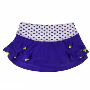 Lululemon Presta Skirt Bruised Berry Dot White